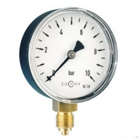 Đồng hồ đo áp suất Suchy loại Bourdon bản tiêu chuẩn