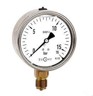 Đồng hồ đo áp suất có dầu Suchy MR20F