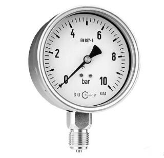 Đồng hồ đo áp suất Suchy MR30-100 (có dầu)
